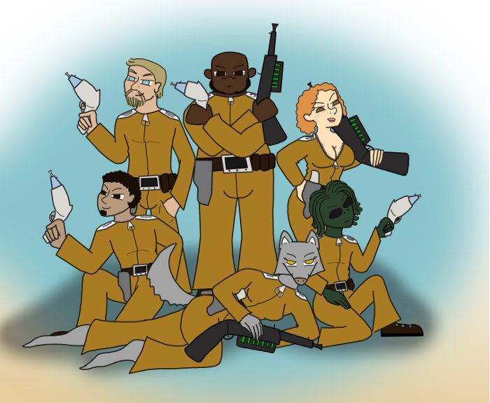 The men and women of the 148th light star fighter division, Arcanum legion. Crellian War, Y.S. 64