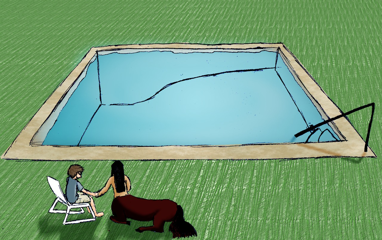 Nobody else wants to use the pool when a centaur's there :(