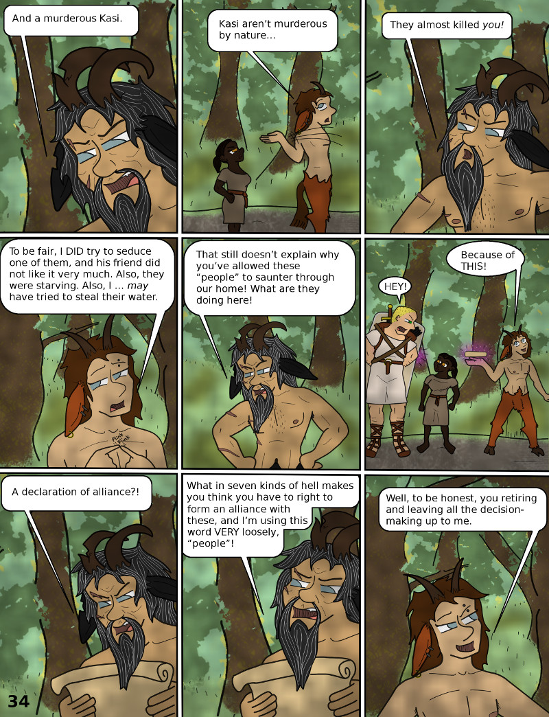 Xenophobic Dad reliquishes rulership to Guy Who Wants To Put His Dick In Everything. Satyrs are good at self-governing.