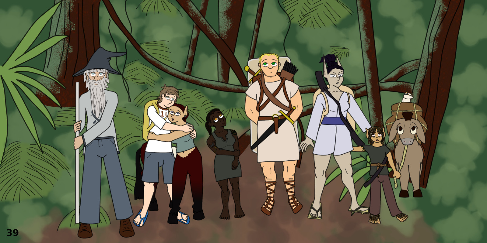 great, now I have to draw jungle every page, why can't we just go back to the Taur Plains, it was so nice there.